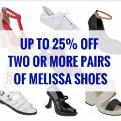 Mdreams: Melissa Shoes Promotion - Up to Extra 25% OFF 2 Pairs or More