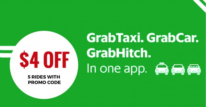 Grab: Promo Code for $4 OFF 5 Grab Rides May Have Expired