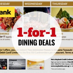 Maybank: Exclusive Daily 1-for-1 Dining Deals with Maybank Cards