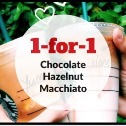 Starbucks: 1-for-1 Chocolate Hazelnut Macchiato