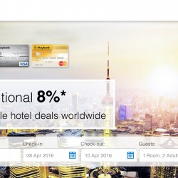 Agoda: MayBank Card Special Coupon for 5% OFF on worldwide hotels