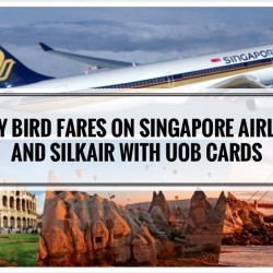 UOB: Early Bird Fares to 100 Destinations such as Bali, Hong Kong, Bangkok on Singapore Airlines & SilkAir