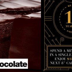 "Awfully Chocolate: $18 OFF Your Next 8"" Cake Purchase with min. $18 Spent"