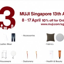 Muji: 13th Anniversary Special Promotion - 10% OFF Online Purchases