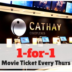Singtel: Exclusive Offer - 1-for-1 Movies at The Cathay Cineplex every Thursday