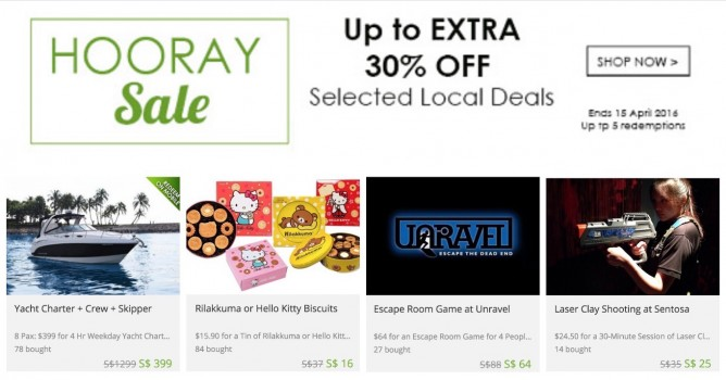 Groupon: Coupon Code for Up to Extra 30% OFF on Local Deals