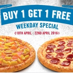 Domino's Pizza: Buy 1 Get 1 FREE Weekday Special
