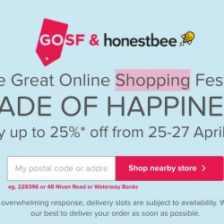Honestbee: The Great Online Shopping Festival 2016 Exclusive Offers