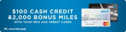 ANZ: Apply For ANZ Credit Card & Get Up to $100 cash credit