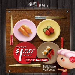 Sushi Express Singapore: 313somerset outlet Re-Opening promotion --- Every plate is only at $1.00++