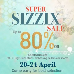 Made with Love: Super Sizzix Sale Up to 80% OFF