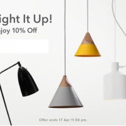 HipVan: Coupon Code for 10% OFF Selected Lighting