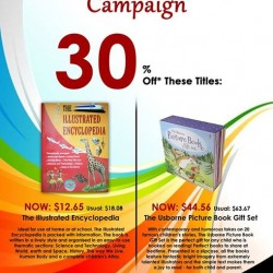 MPH: 'The Illustrated Encyclopedia' and 'The Usborne Picture Book Gift Set' promotion @ Parkway Parade --- 30% off