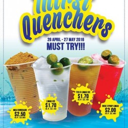 Kopitiam: Thirst Quenchers series promotion available at Cantine @ Jurong Point --- up to 50 cents off