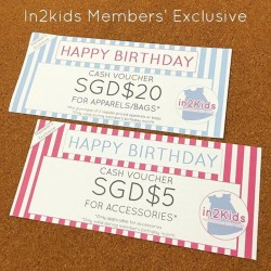 In2kids: Members' Exclusive - get free vouchers on birthday month
