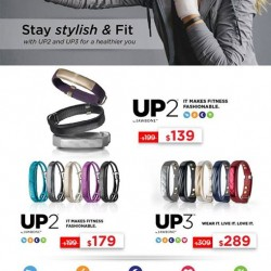 Nübox: Jawbone UP2 and UP3 Promotion --- up to $60 OFF