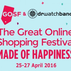 DrWatchBand: The Great Online Shopping Festival 2016 Exclusive Offer