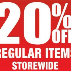 BHG: Great Singapore Sale 20% OFF Regular Items + Up to 70% OFF Special Buys