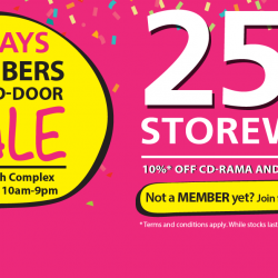 Popular: Members Closed Door Sale with 25% OFF Storewide at Bras Basah