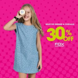 Fox Fashion: Great Singapore Sale with selected dresses & overalls going at 30% off