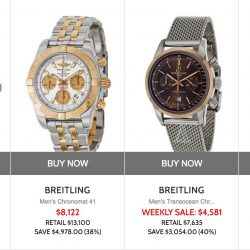 Ashford: Coupon Code for 12% off Latest Breitling watches