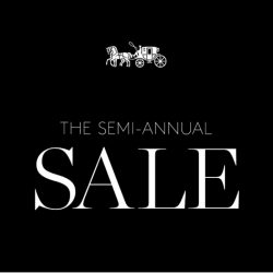 Coach: Semi Annual Sale 2016