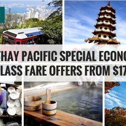 Cathay Pacific: Special Economy Class Fare Offers to Hong Kong, Bangkok, Taiwan, Japan & more from SGD178