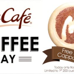 McCafe: Free Small Cappuccino on 20 May from 3pm to 6pm