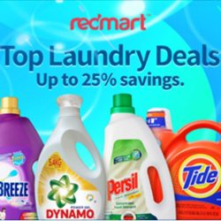 Redmart: Save up to 25% on Laundry Products + Extra 10% OFF Storewide with Promo Code