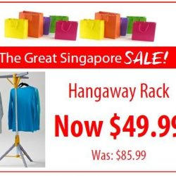 Howards Storage World: Hangaway Clothes Rack NOW at $49.99