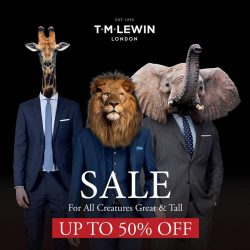 T.M.Lewin: Great Singapore Sale Up to 50% OFF