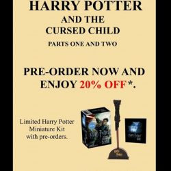 Times bookstores: Pre-order Harry Potter and the Cursed Child and enjoy 20% off