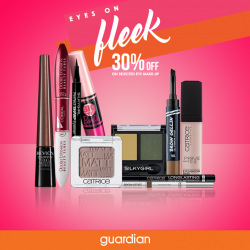 Guardian: Get up to 30% off on selected eye makeup featuring Catrice, SilkyGirl, Revlon, Maybelline, Loreal & Touch in Sol