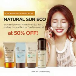THE FACE SHOP: Free Chia Seed Fresh Cleansing Foam & 50% off* your next piece of Natural Sun Eco product