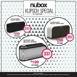 Nübox: Save up to $150 for the selected Klipsch Bluetooth Speakers