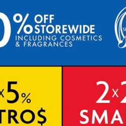 Metro: Great Singapore Sale Up to 20% Storewide