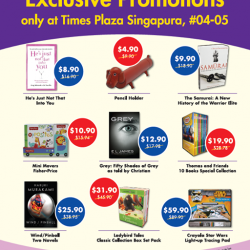 Times Bookstores: Exclusive Promotions at Plaza Singapura