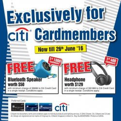 Harvey Norman: Free Gifts with Citibank Credit Cards