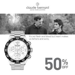 Claude Bernard: Celebrate Father's Day with 50% OFF