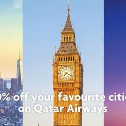 UOB: Qatar Airways Airfare Promotion with 30% OFF Flights to Dubai, Amsterdam, Barcelona, New York and more