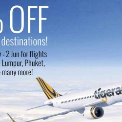 Tigerair: 50% Off Promotional Fares for NTUC Members