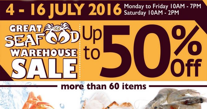iChef: Great Seafood Warehouse Sale Up to 50% OFF 4 - 16 Jul 2016