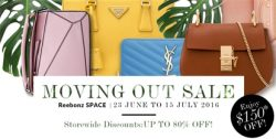 Reebonz: Moving Out Sale + Additional 5% OFF for our Readers!
