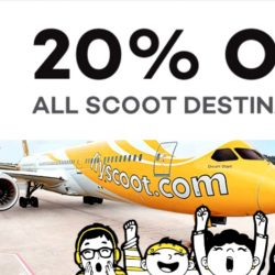 FlyScoot: Coupon Code for 20% OFF All Scoot Destinations