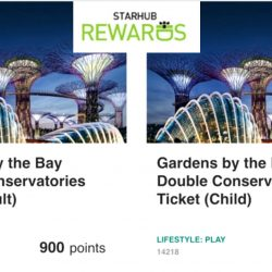 StarHub: Redeem tickets to Gardens by the Bay at 50% Off with 500 & 900 Rewards Points