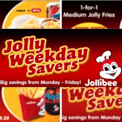 Jollibee: Jolly Weekday Savers E-coupons via App