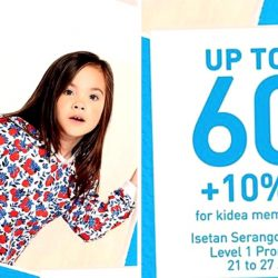 Isetan Serangoon Central: Petit Bateau Bazaar up to 60% OFF Babies & Children's Apparel