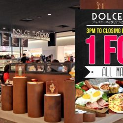Dolce Tokyo: Enjoy 1 for 1 on ALL main courses at 313 Somerset Outlet from 3pm