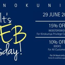 Kinokuniya: 24 Hrs Sale Online 15% OFF for Members & 10% OFF for Non-Members