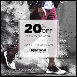 Common Thread: 20% OFF selected Reebok sneaker styles at CT ION and Bugis